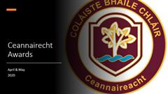 Ceannaireacht Awards April May 2020
